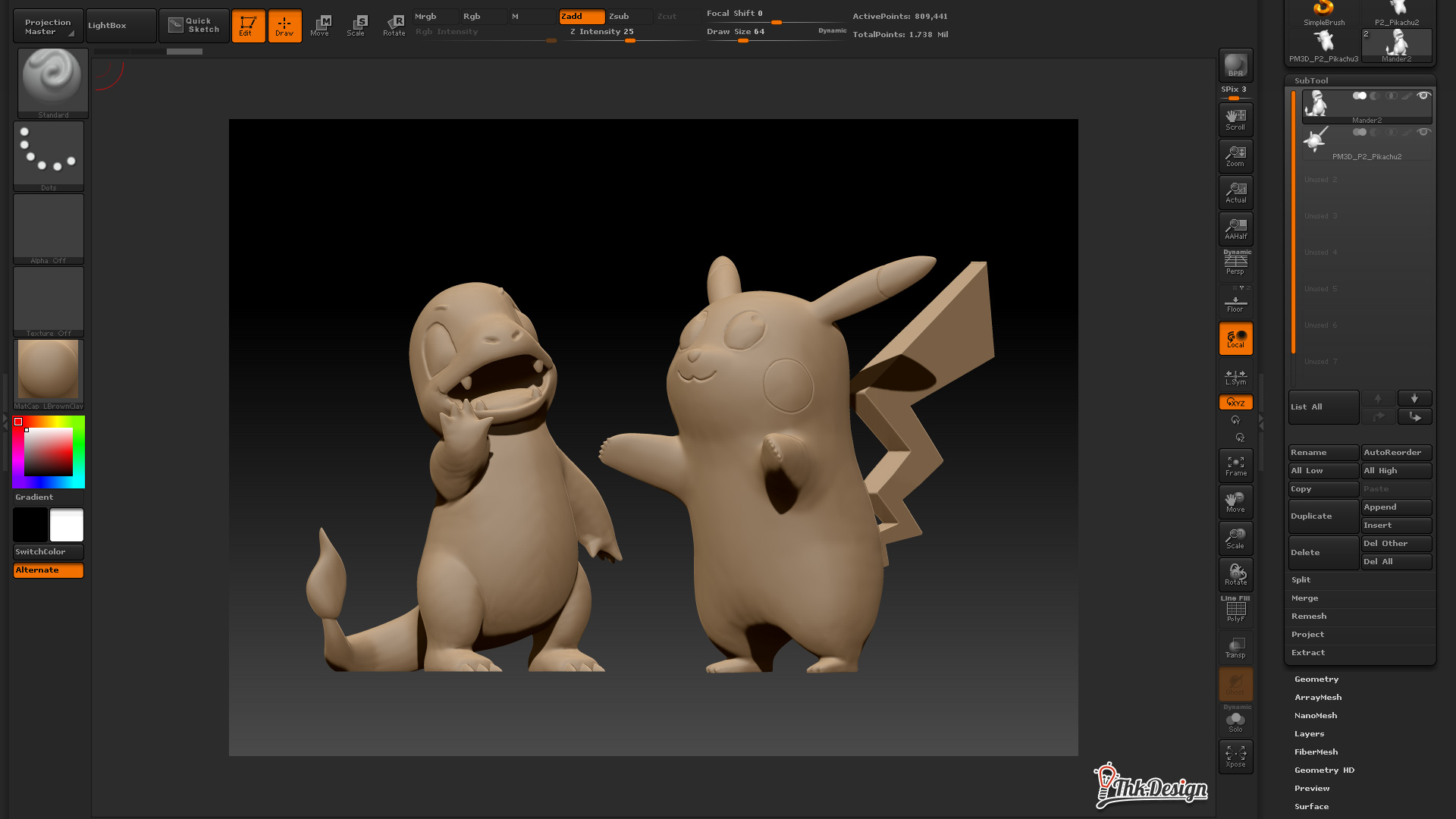 Pokemon 3D Modelling in zBrush
