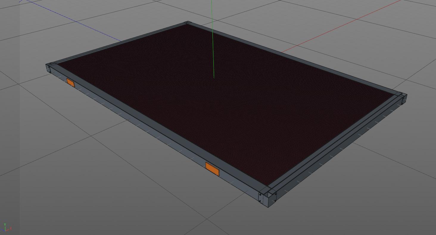 Bodenplatte der Box
